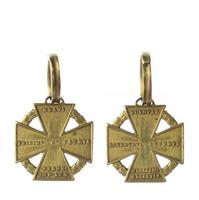 Armádní kříž z let 1813 - 1814 (dělový), bronzový kříž, bronz značeno, Marko.357a