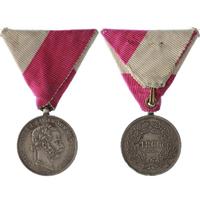 Pamětní medaile pro pražské měštanské ozbrojené sbory z roku 1866, stříbrná medaile,