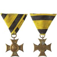 Vojenský služební odznak pro poddůstojníky a mužstvo, kříž II. třídy za 12 let služby