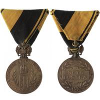 Čestná medaile za mnohaleté členství v domobraneckých sborech, medaile za 40 let, bro