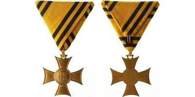 Pamětní kříž z let 1912 - 1913, letopočet pozitivní, bronz zlacená, varianta, Marko.411a