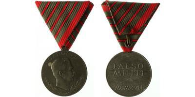 Medaile za zranění, medaile za čtyři zranění, zinek, sign. R. PLACHT, Marko. 423