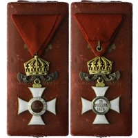 Řád sv. Alexandra s korunou bez mečů, IV. třída, carská emise, stříbro zlacené, smalt