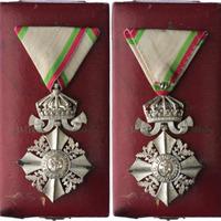 Řád Za občanské zásluhy s korunou, IV. třída, stříbrný kříž, bronz stříbřená, neznače
