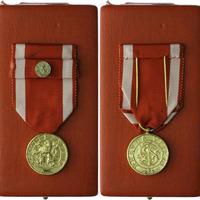 Československý vojenský řád Bílého lva Za vítězství, zlatá medaile, stříbro zlacené,