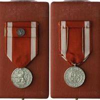 Československý vojenský řád Bílého lva Za vítězství, stříbrná medaile, stříbro,puncov