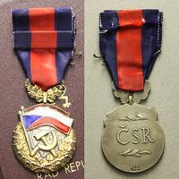 Řád republiky, I. vydání, stříbro, puncováno, číslo 166, výroba Karnet a Kyselý,VM.31