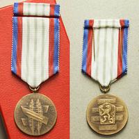 Medaile Za upevňování přátelství ve zbrani, III. třída, VM.55-III, dvě stužky, pův.