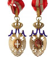 Řád bílého orla, III. třída, komandér, 30. léta 20. století, zlacené stříbro, smalty