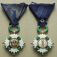 Řád jugoslávské koruny, IV. třída, stříbro zlacené, smalty, nepuncováno, neznačeno,