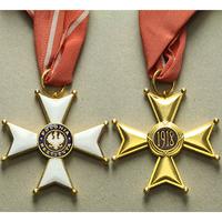 Řád Za obrození Polska, III. třída, komandér, typ 1918, bronz zlacená, WB.56-III