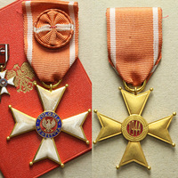 Řád Za obrození Polska, IV. třída, důstojník, typ 1944, bronz zlacená, miniatura, leg