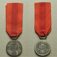 Medaile k 30. výročí PLR, bronz stříbřená, WB.126