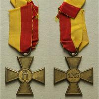 Pamětní kříž 1913, bronz zlacená, Mar.57