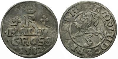 Malý groš 1582, Praha-Gebhart, HN.8a