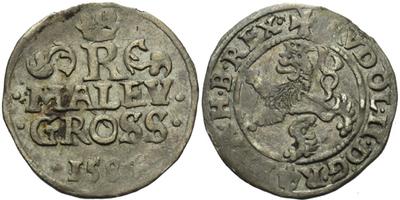 Malý groš 1584, Praha-Ercker, HN.21