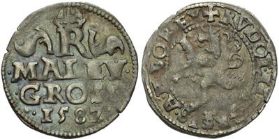 Malý groš 1587, Praha-Ercker, HN.22