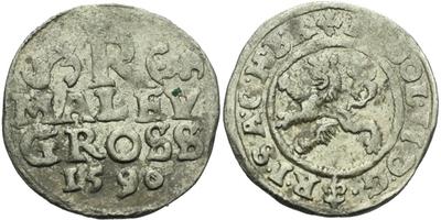 Malý groš 1590, Praha-Ercker, HN.21