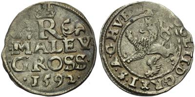 Malý groš 1592, Praha-Ercker, HN.21
