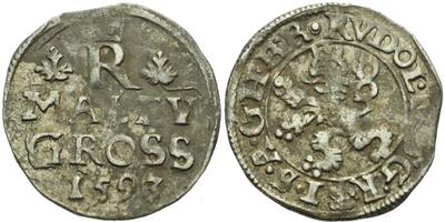 Malý groš 1593, Praha-Ercker, HN.32