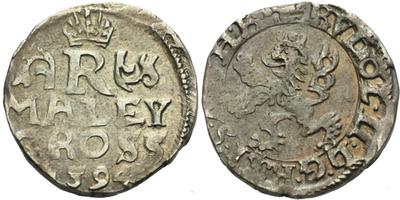 Malý groš 1594, Praha-Ercker, HN.38b