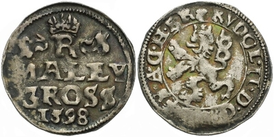 Malý groš 1598, Praha-Erckerová, HN.38b