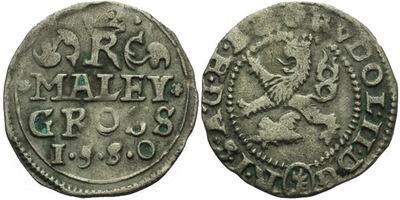 Malý groš 1580, Kutná Hora-Šatný, HN.2b