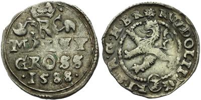 Malý groš 1588, Kutná Hora-Šatný, HN.3