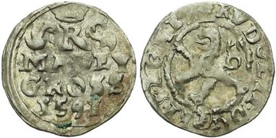 Malý groš 1591, Kutná Hora-Šatný, HN.1b