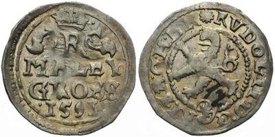Malý groš 1591, Kutná Hora-Šatný, HN.2a