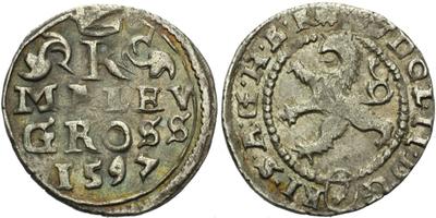 Malý groš 1597, Kutná Hora-Herold, HN.8