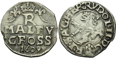 Malý groš 1609, Kutná Hora-Škréta, HN.19a
