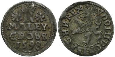 Malý groš 1598, Jáchymov-Hoffmann, HN.8b