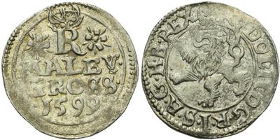 Malý groš 1599, Jáchymov-Hoffmann, HN.8b