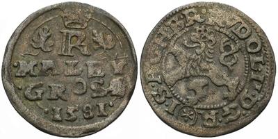 Malý groš 1581, České Budějovice-Schönfeld, HN.11