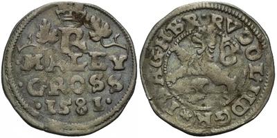 Malý groš 1581, České Budějovice-Schönfeld, HN.13