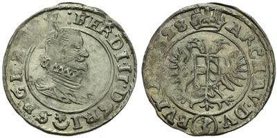 3 Krejcar 1628, Praha - Hübmer