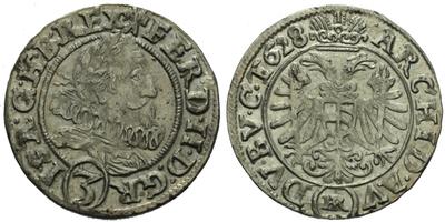 3 Krejcar 1628, Vratislav - Riedel