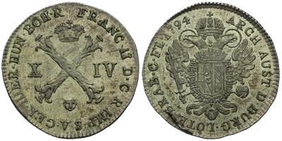 XIV Liard 1794, Brusel