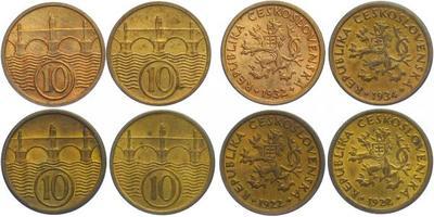 10 Haléř - 2 x 1922,1932,1934, celkem 4 ks