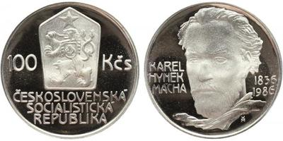 100 Koruna 1986 - Karel Hynek Mácha, PROOF