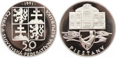 50 Koruna 1991 - Pieštany, PROOF