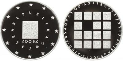 200 Kč 2004 - Vstup České republiky do EU, PROOF