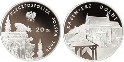 20 Zlotý 2008, Ag 0,925, 38 mm (28,28 g) - Kazimierz Dolny - PROOF