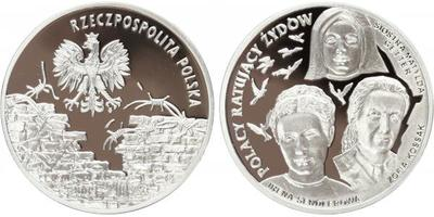20 Zlotý 2009, Ag 0,925, 38 mm (28,28 g) - 3 polští zachránci židů