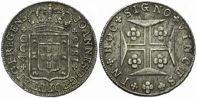 400 Reis 1816, hezká patina