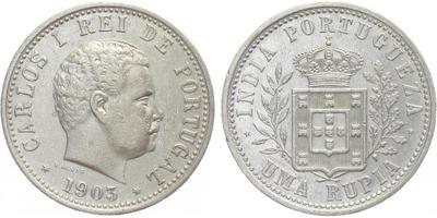 Rupie 1903, Ag 0,917, 30,5 mm (11,66 g)