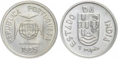 Rupie 1935, Ag 0,917, 30,5 mm (12 g)