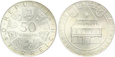 Rakousko, 50 Schilling 1973 - 500. výročí Brummerl House
