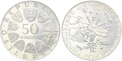 Rakousko, 50 Schilling 1974 - Mezinárodní zahradní výstava